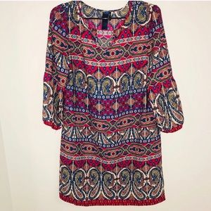 Francesca's Collection Paisley Striped Tunic Dress